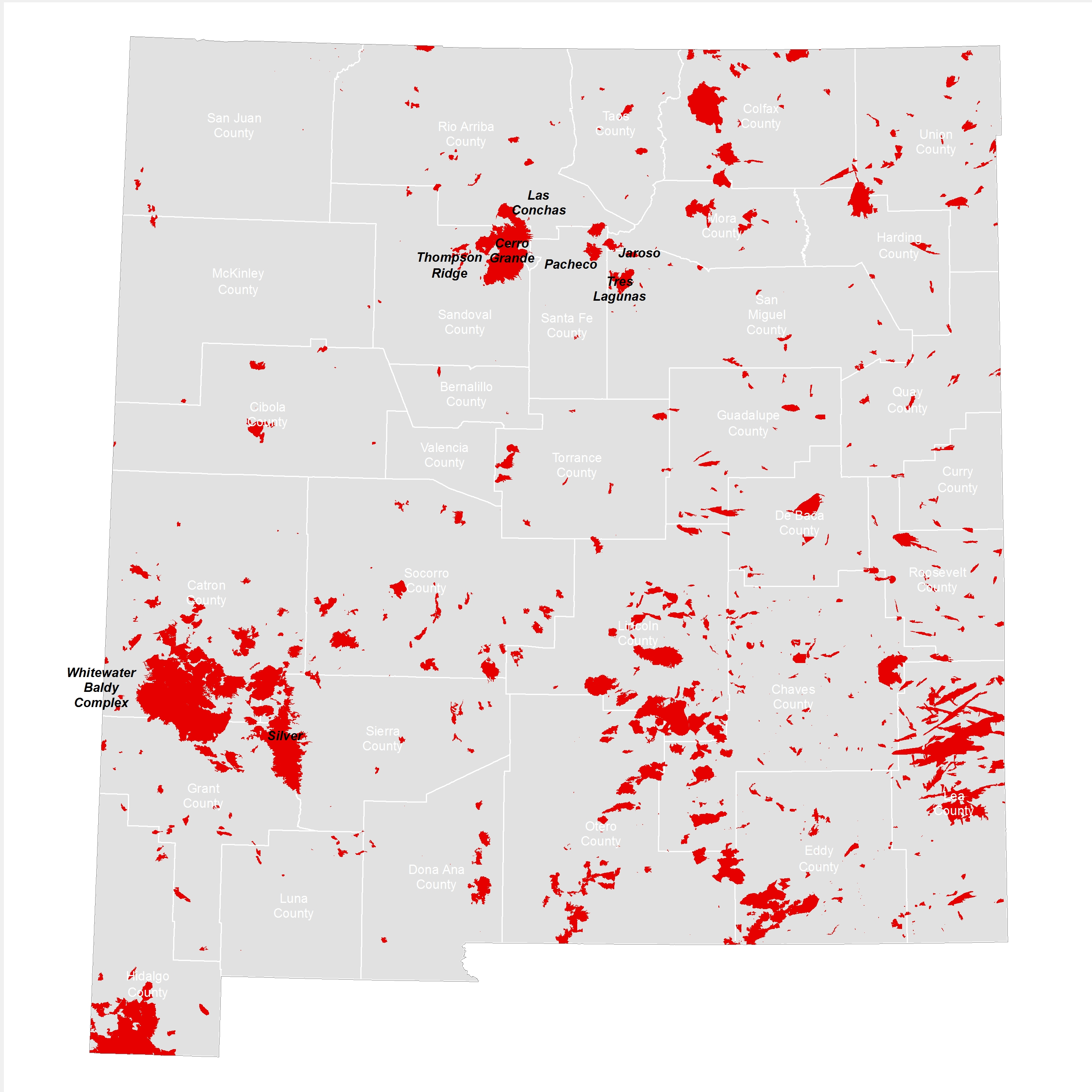 Fires In New Mexico Map How is Wildfire Affecting New Mexico?   NM RGIS