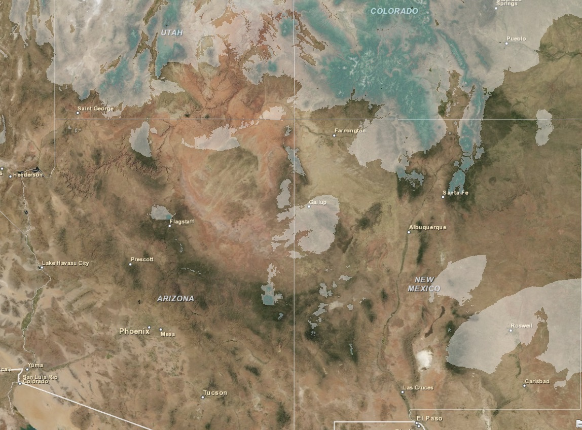 Snow Cover: Satellite Image and SNOTEL Data, 2 February 2014