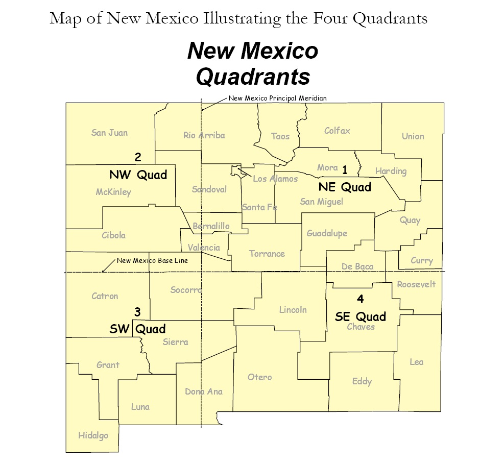 unit 36 new mexico map New Mexico Public Land Survey System Plss Finder Nm Rgis